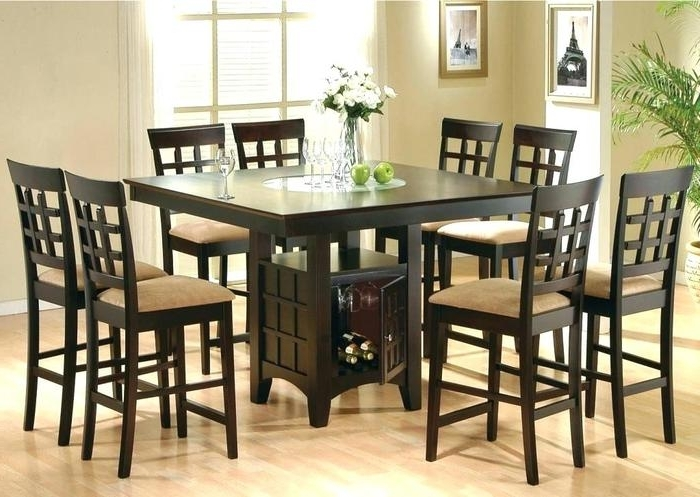 Dining Tables With 8 Chairs Within Most Recent  (View 9 of 20)