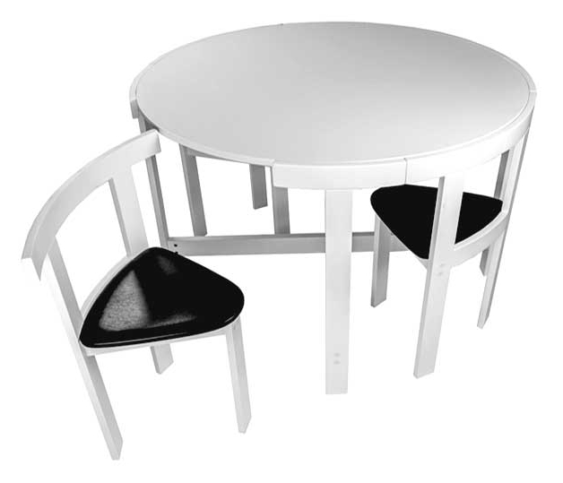 Dining Tables With Attached Stools With Regard To Trendy Furniture For Small Spaces (View 3 of 20)