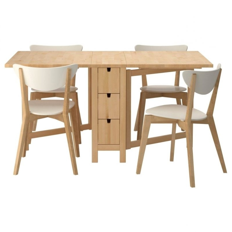 Dining Tables With Fold Away Chairs For Well Known Dining Tables : Gateleg Dining Table Seater Folding Dining Table (Gallery 19 of 20)