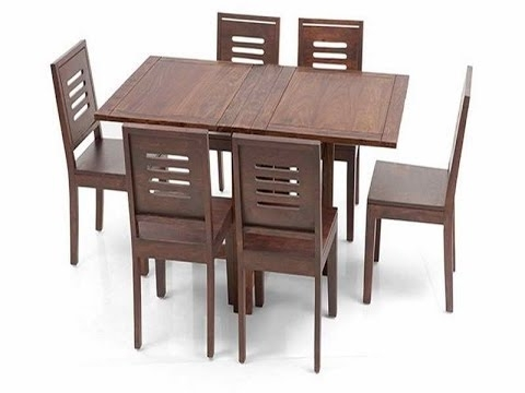 Dining Tables With Fold Away Chairs With Popular Great Ideas For Collapsible Dining Table – Youtube (Gallery 3 of 20)