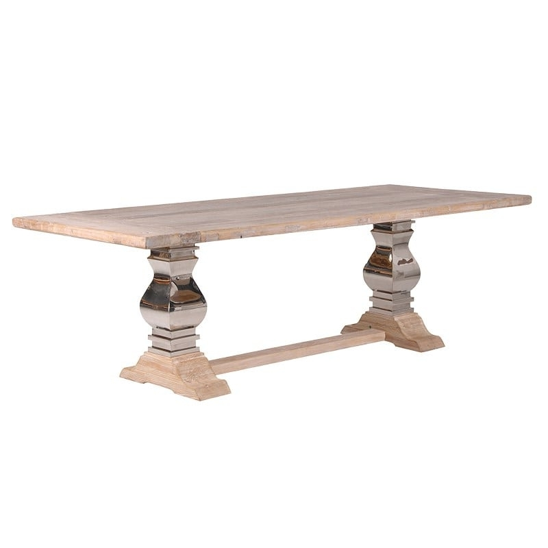 Dining Tables With Large Legs Regarding Latest Extra Large Farmhouse Dining Table With Metal Legs Furniture – La (View 7 of 20)