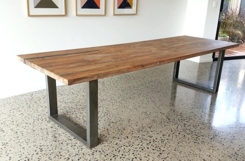 Dining Tables With Metal Legs Wood Top Regarding Recent Black Metal Table Legs Metal Table Inch Tall Steel Dining Table Base (View 7 of 20)