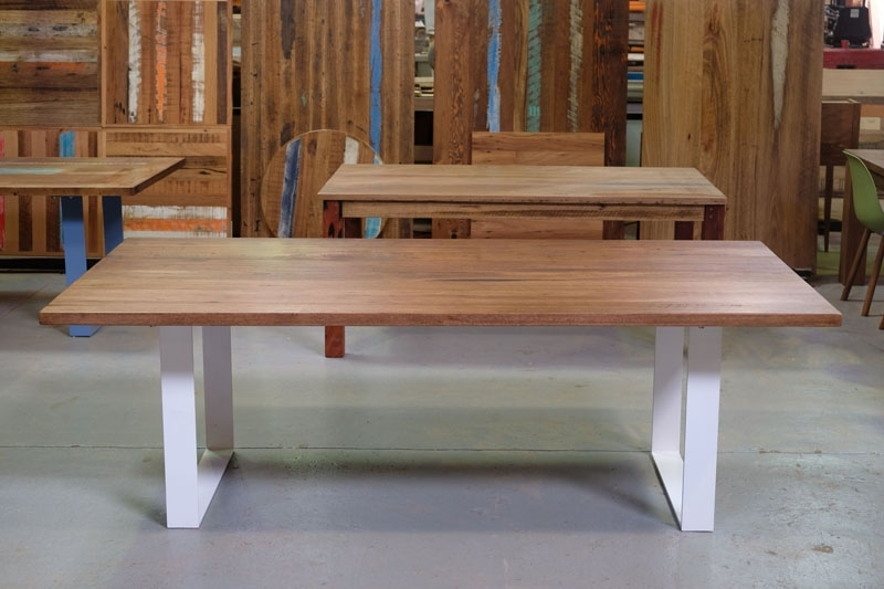 Dining Tables With White Legs Inside Widely Used Recycled Timber Dining Tables & Outdoor Timber Furniture Melbourne (Gallery 11 of 20)
