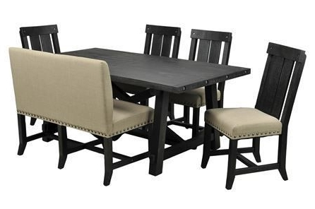 Dining Throughout Newest Jaxon 6 Piece Rectangle Dining Sets With Bench & Wood Chairs (View 5 of 20)