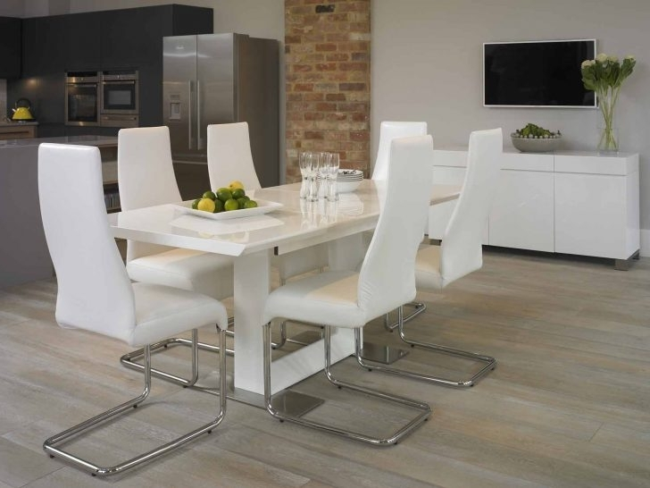 Dining: White Dining Room Suites In Well Liked White Dining Suites (Gallery 13 of 20)