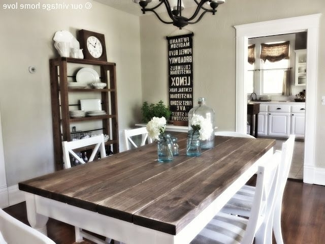 Diy Home Inside Most Recent Country Dining Tables (View 15 of 20)