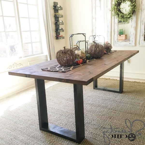 Diy Rustic Modern Dining Table – Shanty 2 Chic Within Most Up To Date Modern Dining Tables (View 7 of 20)