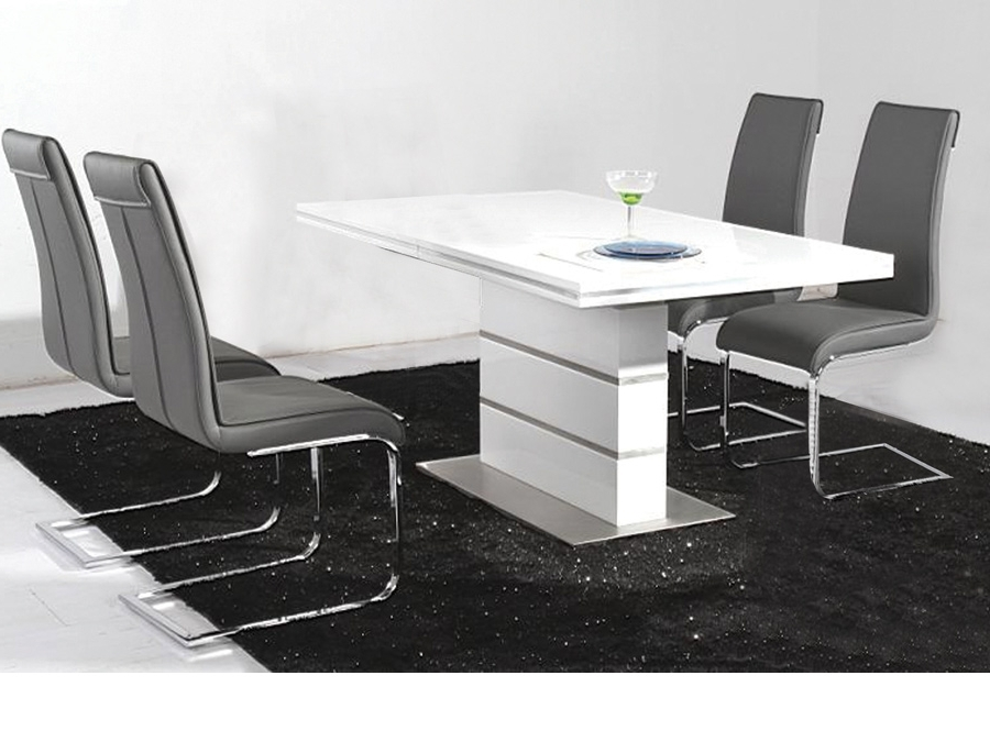 Dolores High Gloss Dining Table Set 14939 Furniture In In Widely Used High Gloss Dining Furniture (Gallery 6 of 20)