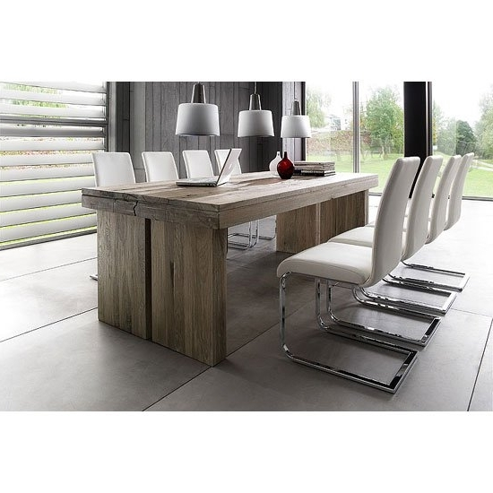 Dublin 8 Seater Dining Table In 220cm With Lotte Dining For Well Liked 8 Seater Dining Tables And Chairs (View 5 of 20)