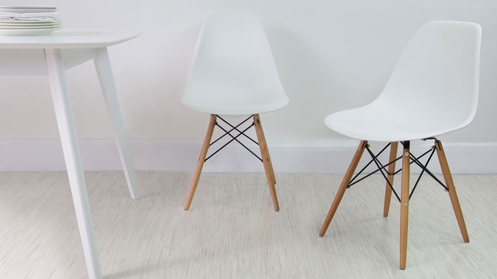 Eames Dining Chair High Quality Uk Fast Delivery Regarding Trendy White Dining Chairs (Gallery 3 of 20)