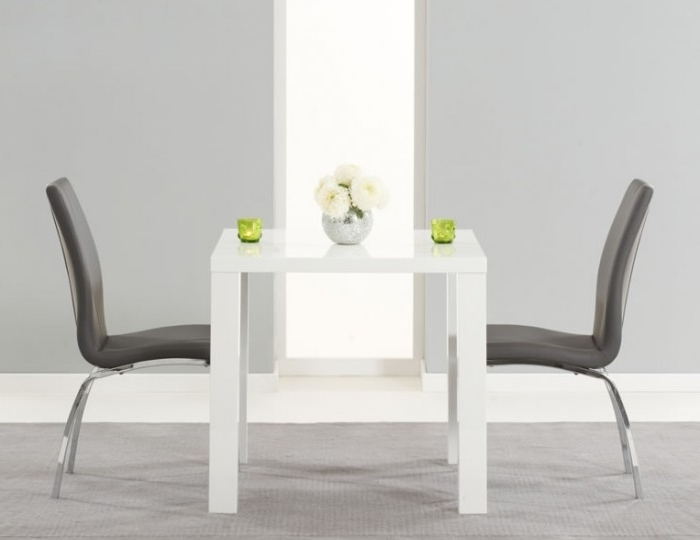 Earlham Small White High Gloss Dining Set – Frances Hunt Pertaining To Most Recently Released Small White Dining Tables (View 7 of 20)