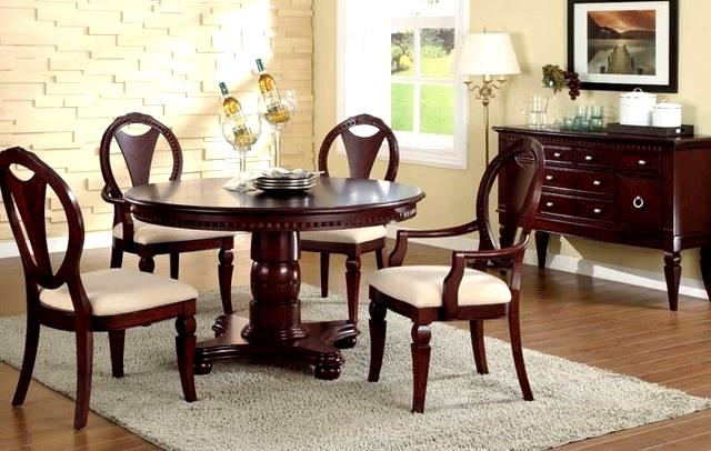 Ebay Dining Suites With Regard To Trendy Delightful Wood Dining Set F D Dining Set F Furniture Cherry Wood (Gallery 7 of 20)