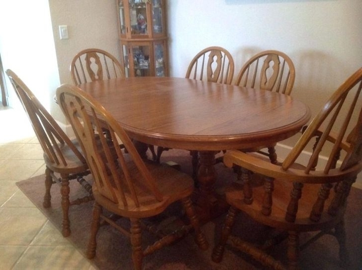 Ebay Dining Suites Within Most Popular Dining Room Set 6 Chairs Decoratingcool Wood Table And Ikea Round (Gallery 15 of 20)
