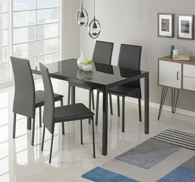 Featured Photo of Cheap Glass Dining Tables And 4 Chairs