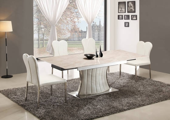 Ec21 – Teams Furniture Co.,ltd – Sell Stainless Steel Marble Top With Regard To Well Known Extending Marble Dining Tables (Gallery 11 of 20)