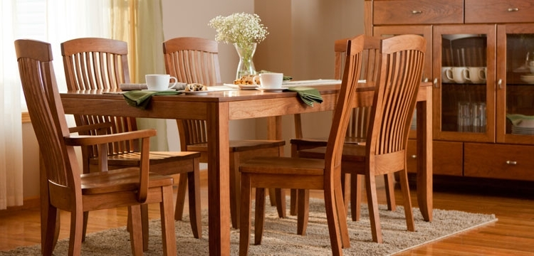 Edmonton Dining Tables Inside Recent Dining Furniture From Simply Amish (View 9 of 20)