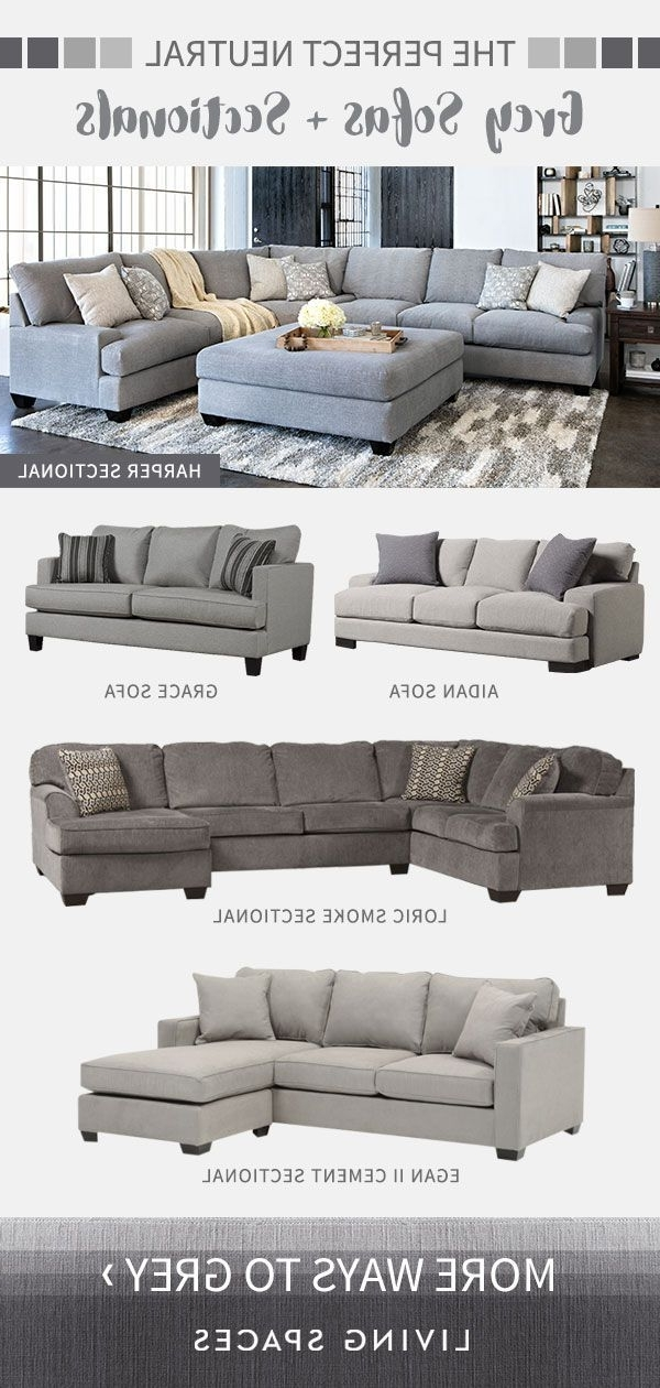 Egan Ii Cement Sofa Sectionals With Reversible Chaise Intended For Popular Grey Sofas & Sectional Sofas Are The Perfect Neutral Piece For Any (View 10 of 15)