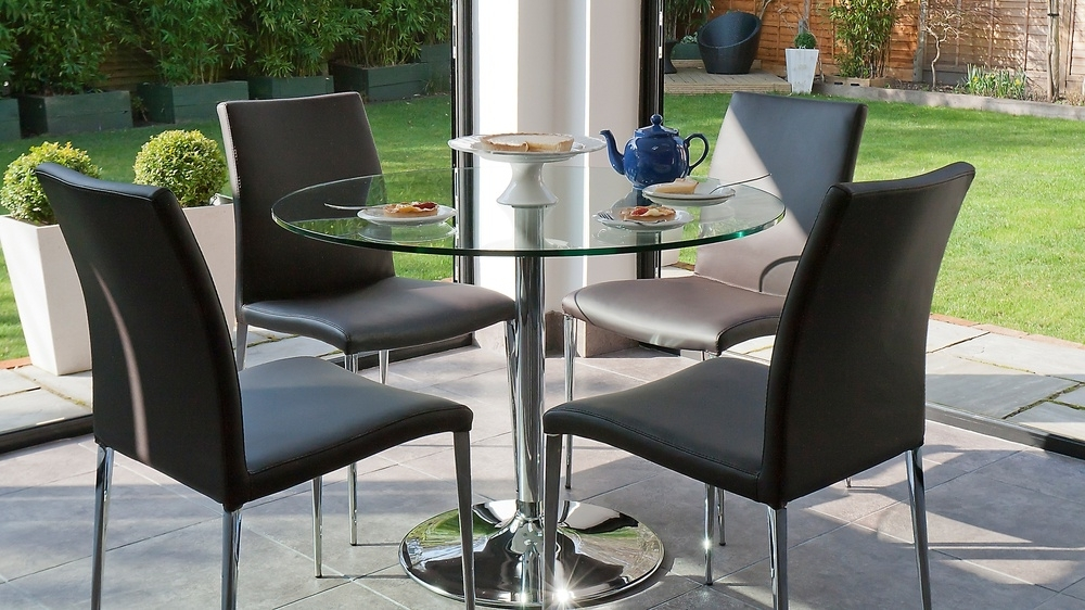 Elegant Faux Leather Dining Chairs (View 11 of 20)