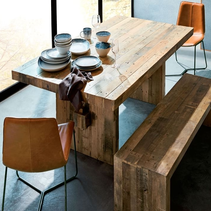 Emmerson® Reclaimed Wood Dining Table – Natural (Gallery 3 of 20)