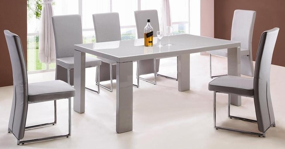 Enzo 6 Piece Dining Room Set – Allied Home Interiors Intended For Latest High Gloss Dining Sets (Gallery 20 of 20)