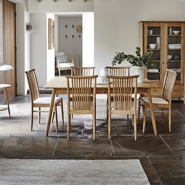 Ercol Teramo Small Extending Dining Table & 4 Kitchen Dining Chairs Pertaining To Popular Small Extending Dining Tables And Chairs (Gallery 20 of 20)