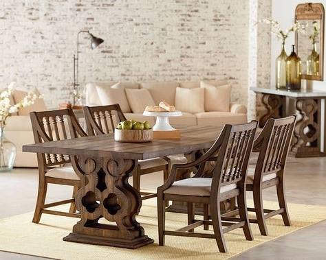 Ev Pertaining To Recent Magnolia Home Sawbuck Dining Tables (View 3 of 20)