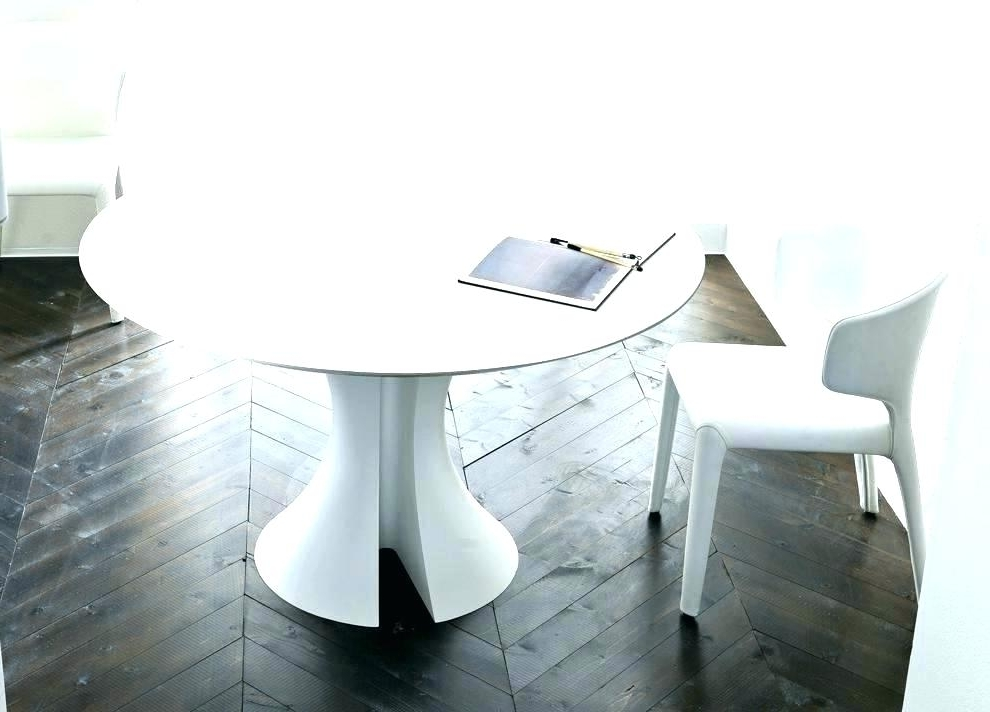 Expandable Round Dining Table Modern White Round Table Unique Dining In 2017 White Circle Dining Tables (View 5 of 20)