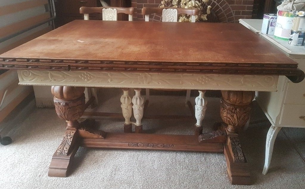 Extendable Dining Table And 4 Chairs With Well Known Solid Oak Old Charm Extendable Dining Table & 4 Chairs (View 7 of 20)