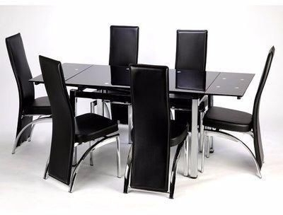 Extendable Dining Table With 6 Chairs Price From Konga In Nigeria For Current Glass Extendable Dining Tables And 6 Chairs (Gallery 10 of 20)