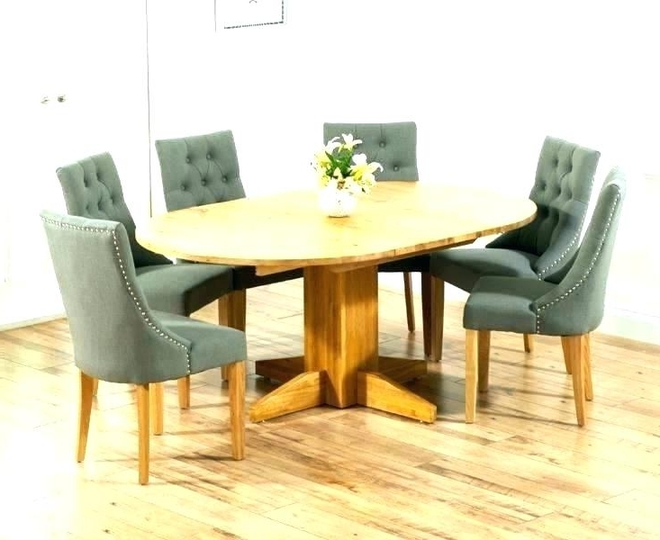 Extendable Dining Tables And 6 Chairs In Well Liked Dining Table And 6 Chairs Set Oak Room Winsome Extending With Round (Gallery 11 of 20)