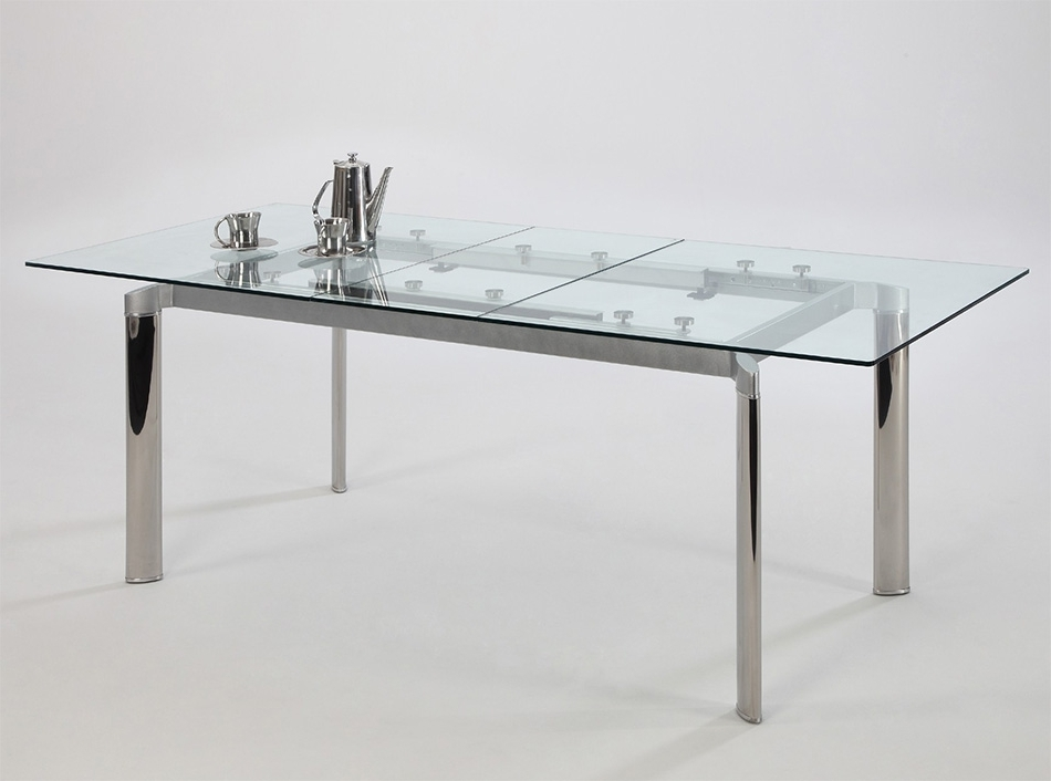 Extendable Glass Dining Tables With 2018 Tara Extendable Dining Tablechintaly (Gallery 8 of 20)