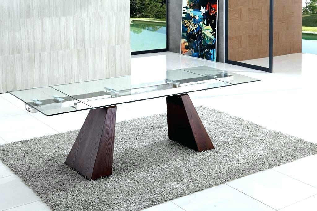 Extendable Glass Dining Tables With Regard To Most Recent Extendable Glass Dining Table Modern Glass Dining Room Tables (Gallery 11 of 20)