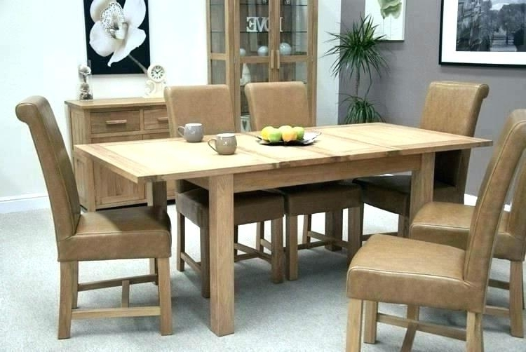 Extendable Oak Dining Tables And Chairs Throughout Most Recently Released Oak Extending Dining Table – Emanhillawi (View 8 of 20)