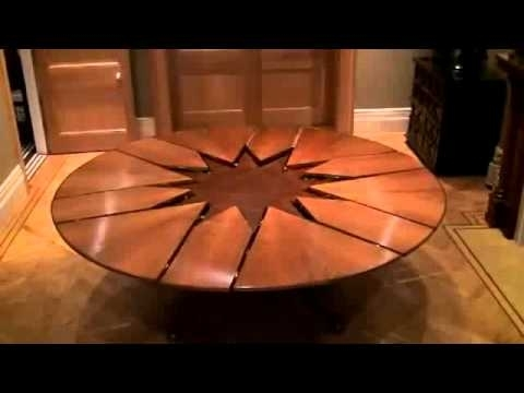 Extendable Round Dining Tables Intended For 2018 New Technology Table Expandable Round Dining Table – Youtube (View 4 of 20)