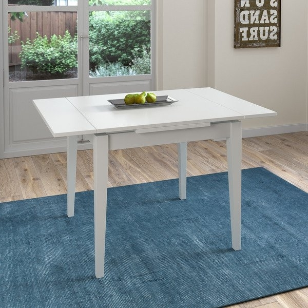 Extendable Square Dining Tables In Best And Newest Shop Corliving White Extendable Square Dining Table – Free Shipping (View 2 of 20)