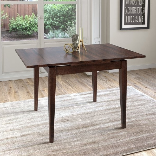 Extendable Square Dining Tables Regarding Preferred Shop Corliving Cappuccino Extendable Square Dining Table – Free (Gallery 4 of 20)