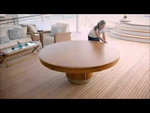 Extended Round Dining Tables With Regard To Well Known Expandable Round Dining Table – Youtube (View 9 of 20)