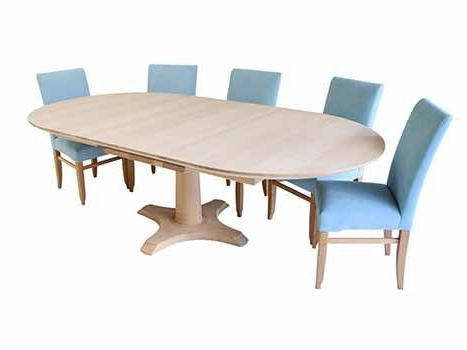 Extended Round Dining Tables Within Fashionable Extending Dining Tables In Solid Oak / Walnut, Contemporary Tables (Gallery 9 of 20)