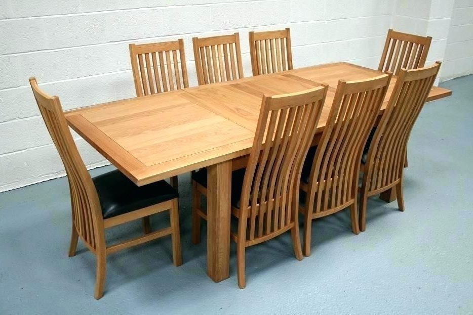 Extending Dining Table And Chairs Intended For Fashionable Dining Tables 8 Seater 8 Dining Set 8 Seat Dining Table Set View (Gallery 17 of 20)