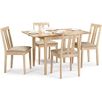 Extending Dining Table Sets Regarding Current Julian Bowen Rufford Extending Dining Table Set With 4 Chairs, Light (View 5 of 20)