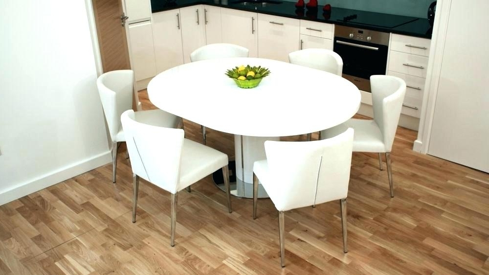 Extending Dining Tables Sets In Most Popular White Round Extendable Dining Table – Dictionaru (Gallery 19 of 20)