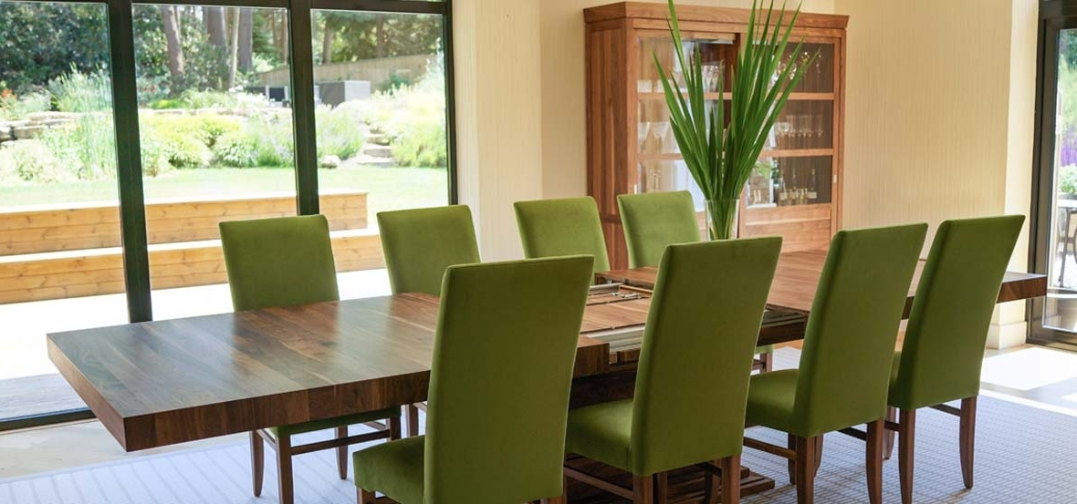 Extending Dining Tables Sets Throughout Fashionable Extending Dining Tables In Solid Oak / Walnut, Contemporary Tables (Gallery 17 of 20)