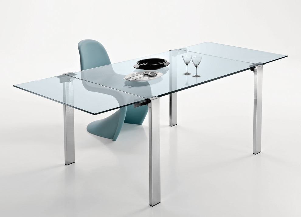 Extending Glass Dining Tables Pertaining To Latest Tonelli Livingstone Extending Glass Dining Table – Extending Glass (View 5 of 20)