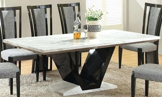 Extending Marble Dining Tables Pertaining To Popular White Marble Kitchen Table Fabulous Luxury Extendable Dining Table (View 6 of 20)