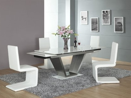 Extending Marble Dining Tables With Recent Viva White Contemporary Marble Extending Dining Set – Dining Table + (Gallery 3 of 20)