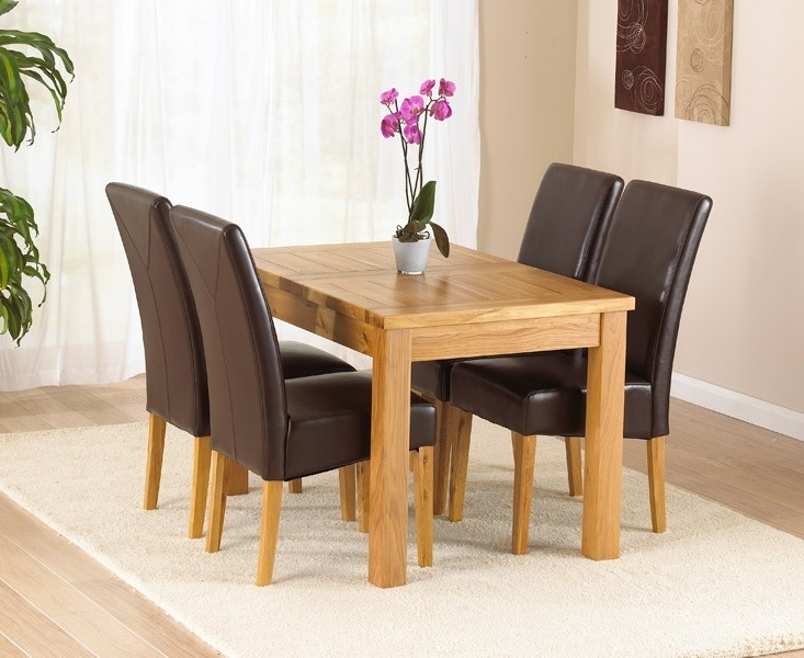 Extending Oak Dining Tables And Chairs In 2017 Rustique 120Cm Solid Oak Extending Dining Table (120Cm – 160Cm (View 8 of 20)