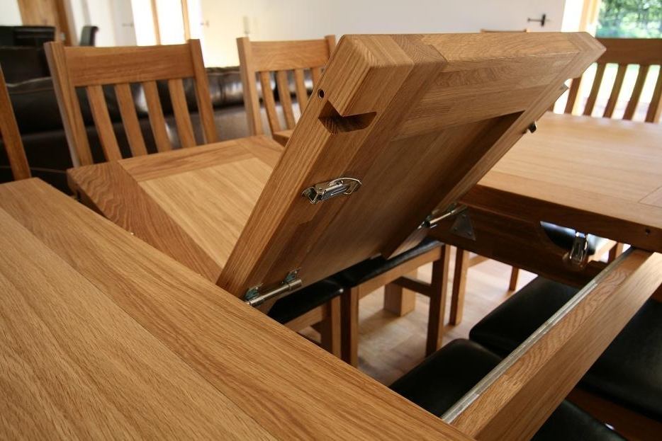 Extending Oak Dining Tables Regarding Oak Extendable Dining Tables And Chairs (Gallery 14 of 20)