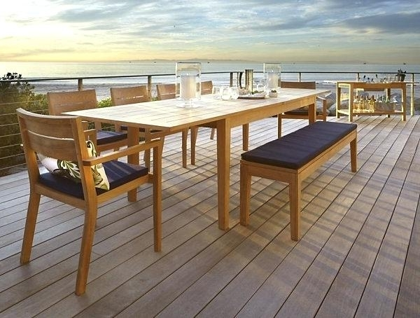Extending Outdoor Dining Table View In Gallery Benchwright Outdoor Pertaining To Most Recent Extending Outdoor Dining Tables (View 6 of 20)