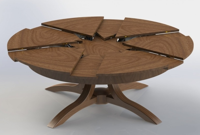 Extending Round Dining Tables With Regard To Widely Used Round Expanding Dining Table Home And Furniture (Gallery 16 of 20)