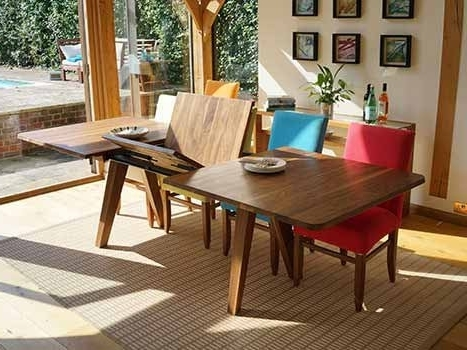 Extending Solid Oak Dining Tables Pertaining To Most Current Extending Dining Tables In Solid Oak / Walnut, Contemporary Tables (Gallery 14 of 20)